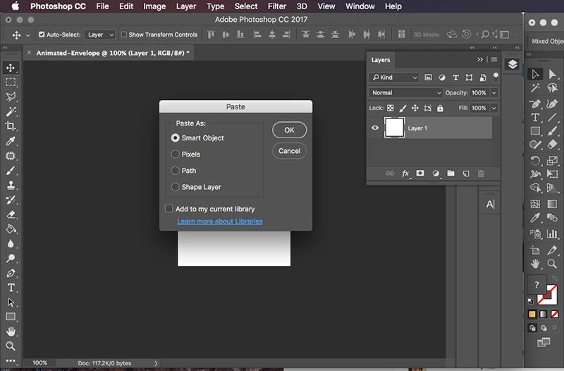 Copy vectors to Photoshop