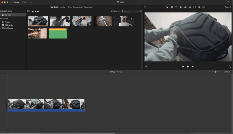 Repeat with other Clips in iMovie