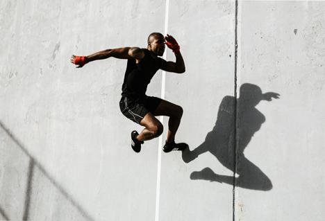 Black male athlete, TONL stock image library